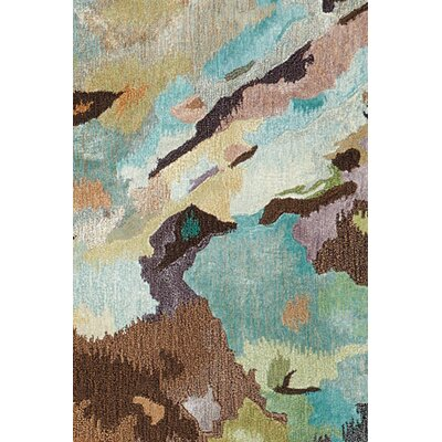 Annan Hand Tufted Turquoise/Brown Indoor Area Rug