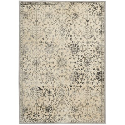 Origin Ivory/Gray Indoor Area Rug Rug Size: Rectangle 5'3