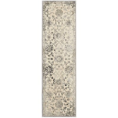 Origin Ivory/Gray Indoor Area Rug Rug Size: Runner 23 x 8