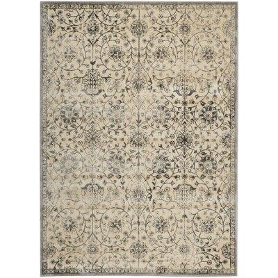 Origin Ivory/Gray Indoor Area Rug Rug Size: Rectangle 79 x 1010