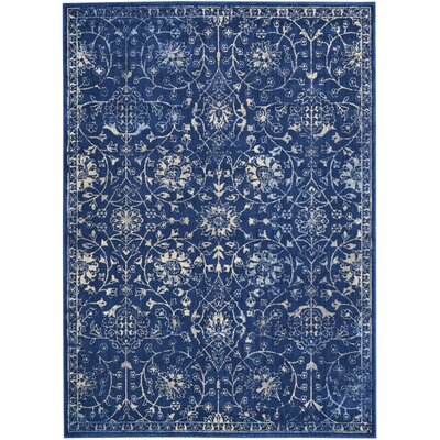 Origin Navy Indoor Area Rug Rug Size: Rectangle 53 x 75