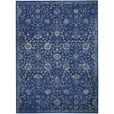 Origin Navy Indoor Area Rug Rug Size: Rectangle 96 x 13