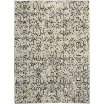 Origin Ivory/Gray Indoor Area Rug Rug Size: Rectangle 36 x 56