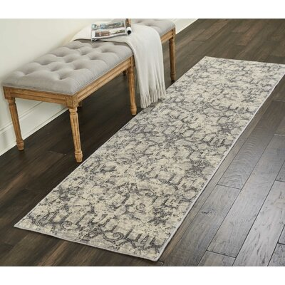 Gerald Ivory/Gray Area Rug Rug Size: Rectangle 79 x 1010