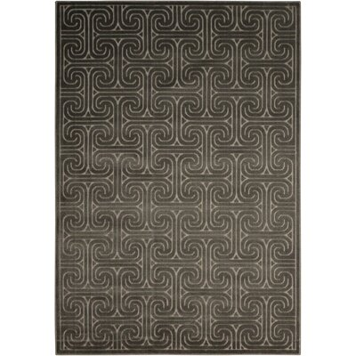Interlock Dark Gray Indoor Area Rug Rug Size: Rectangle 53 x 75