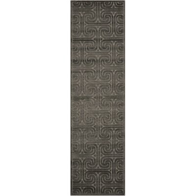 Interlock Dark Gray Indoor Area Rug Rug Size: Runner 23 x 8