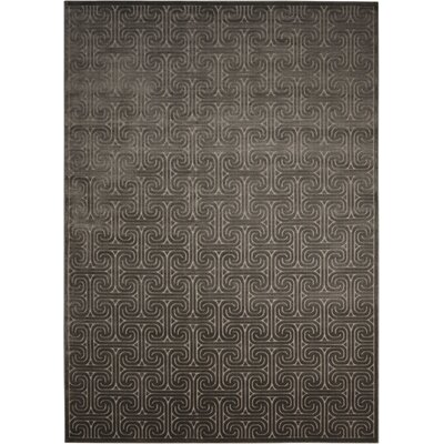 Interlock Dark Gray Indoor Area Rug Rug Size: Rectangle 79 x 1010