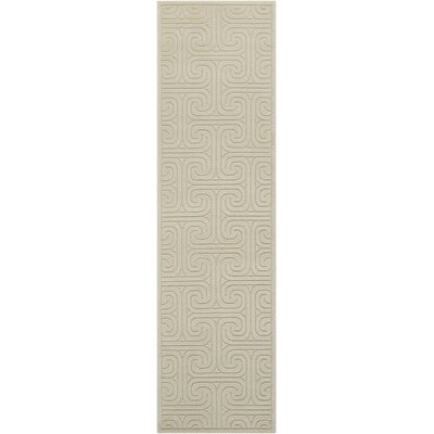 Interlock Ivory/Beige Indoor Area Rug Rug Size: Runner 23 x 8