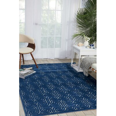 Marietta Navy Area Rug Rug Size: Rectangle 36 x 56