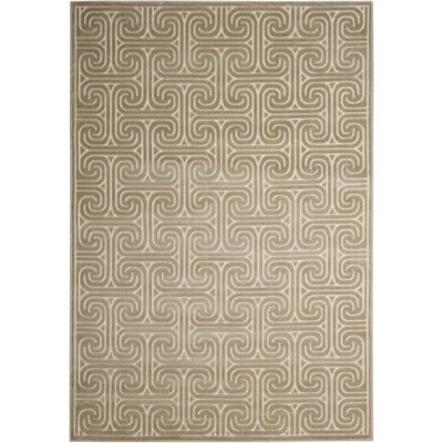 Interlock Light Gray Indoor Area Rug Rug Size: Rectangle 36 x 56