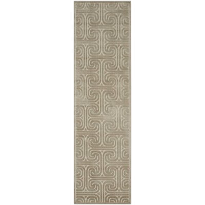 Interlock Light Gray Indoor Area Rug Rug Size: Runner 23 x 8