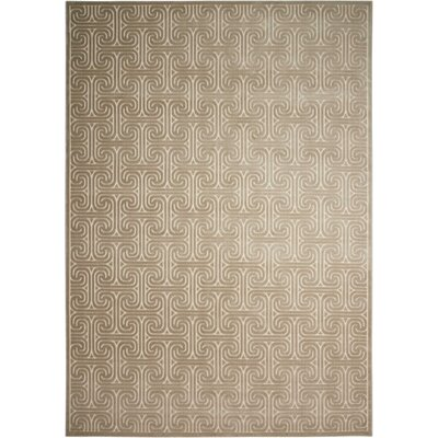 Interlock Light Gray Indoor Area Rug Rug Size: Rectangle 79 x 1010