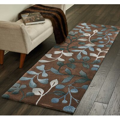Holmes Hand Tufted Brown/Gray Area Rug Rug Size: Runner 23 x 8
