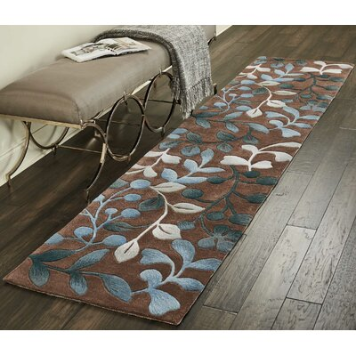 Holmes Hand Tufted Brown/Gray Area Rug Rug Size: Runner 23 x 10