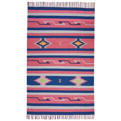 Rocky Hand Woven Pink/Blue Area Rug Rug Size: Runner 2'3
