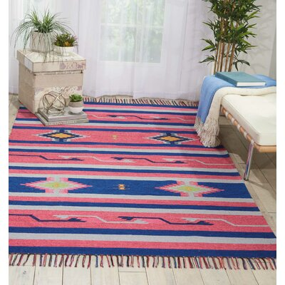 Rocky Hand Woven Pink/Blue Area Rug Rug Size: Rectangle 5 x 7
