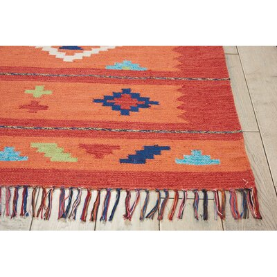 Rocky Hand Woven Orange/Red Area Rug Rug Size: Rectangle 66 x 96