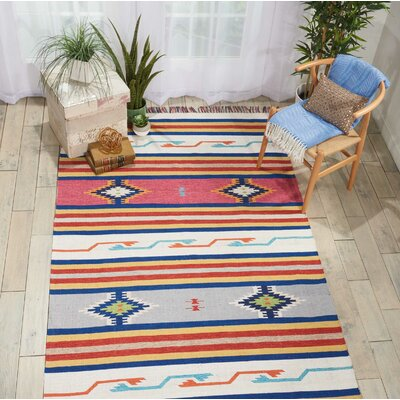 Rocky Hand Woven Blue/Gray/Pink Area Rug Rug Size: Rectangle 5 x 7