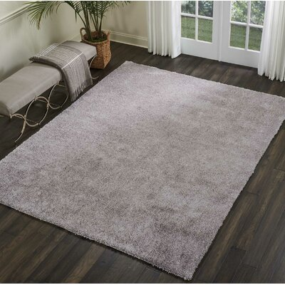 Sinechra Hand Tufted Gray Area Rug Rug Size: Rectangle 76 x 96