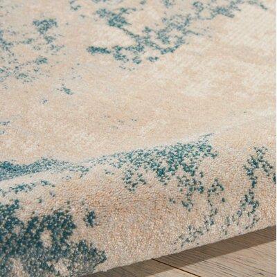 Mana Ivory/Teal Area Rug Rug Size: Rectangle 93 x 129