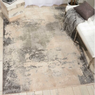 Mana Ivory/Gray Abstract Area Rug Rug Size: Rectangle 93 x 129