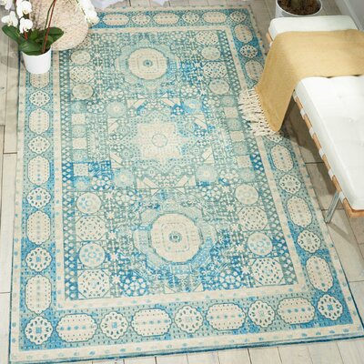 Union Point Teal Area Rug Rug Size: 66 x 96