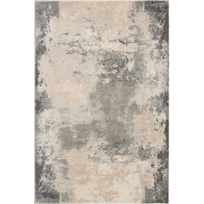 Mana Ivory/Gray Abstract Area Rug Rug Size: Rectangle 310 x 510