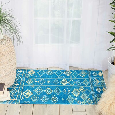 Wilkerson Denim Area Rug Rug Size: Rectangle 23 x 39