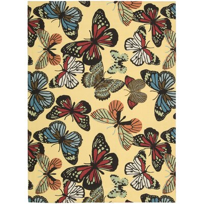 Annecia Home & Garden Indoor/Outdoor Area Rug Rug Size: 53 x 75