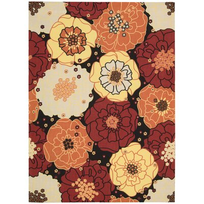 Home & Garden Floral Red Multi Rug