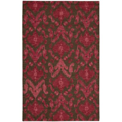 Siam Hand-Tufted Brown/Red Area Rug Rug Size: Runner 23 x 76