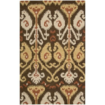 Siam Hand-Tufted Chocolate Area Rug Rug Size: 56 x 75