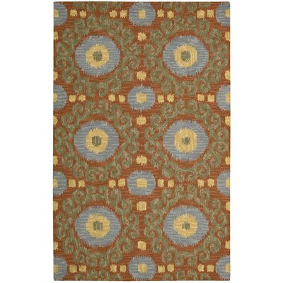 Siam Hand-Tufted Rust Area Rug Rug Size: Runner 23 x 76