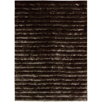 Veer Hand-Tufted Mahogany Area Rug Rug Size: Rectangle 56 x 75
