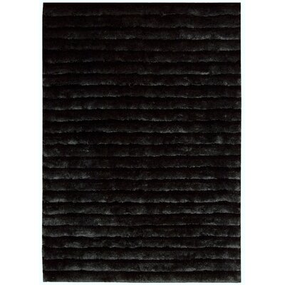 Urban Safari Hand-Tufted Black Area Rug Rug Size: 56 x 75