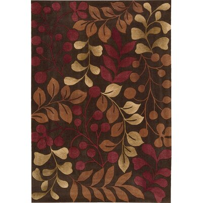 Brittni Hand-Tufted Red/Brown Area Rug Rug Size: Rectangle 36 x 56