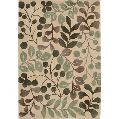 Brittni Hand-Tufted Vanilla Area Rug Rug Size: Rectangle 73 x 93
