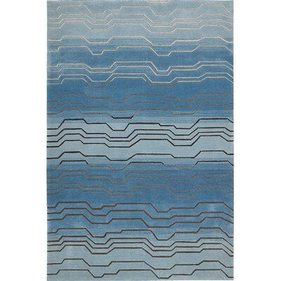 Newbury Hand-Tufted Azure Area Rug Rug Size: Rectangle 5 x 76