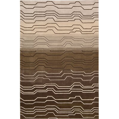 Newbury Hand-Tufted Brown Area Rug Rug Size: 36 x 56