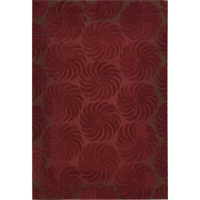 Contour Hand-Tufted Red Area Rug Rug Size: 36 x 56