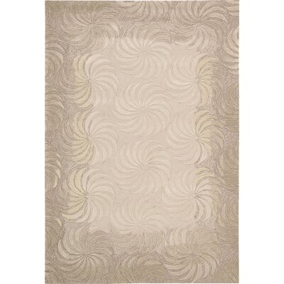 Gemini Hand-Tufted Taupe Area Rug Rug Size: Rectangle 73 x 93