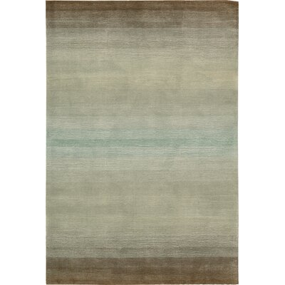 Ollie Hand-Tufted Gray Area Rug Rug Size: Rectangle 36 x 56