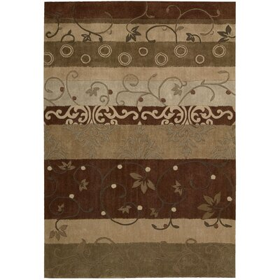 Brittni Hand-Tufted Beige/Brown Area Rug Rug Size: Rectangle 73 x 93