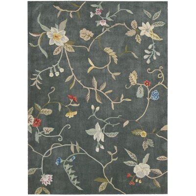 Williston Hand-Tufted Slate Area Rug Rug Size: Rectangle 36 x 56