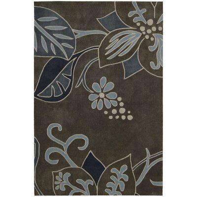 Brittni Grey/Blue Rug Rug Size: Rectangle 73 x 93