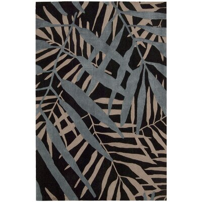 Contour Hand-Tufted Black Area Rug Rug Size: 7'3