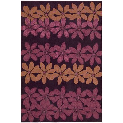 Dominey Hand-Tufted Plum Area Rug Rug Size: 73 x 93