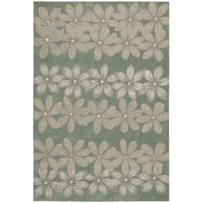 Dominey Hand-Tufted Sage Area Rug Rug Size: 73 x 93