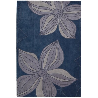 Gideon Hand-Tufted Blue Area Rug Rug Size: Rectangle 36 x 56