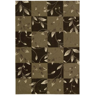 Kelsey Hand-Tufted Brown Area Rug Rug Size: 73 x 93